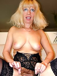 Wanking, Watching, Amateur mature, Blond mature