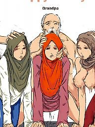 Hijab cartoon, Comics cartoon, Comics, Comic, Hijab, Cartoon