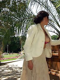 Milf flashing, French, French milf, Park, Parking