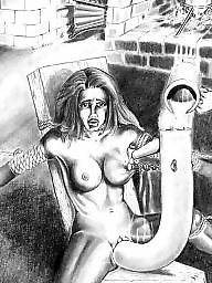 Bdsm cartoons, Drawings, Pain, Bdsm cartoon