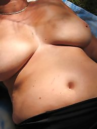 Big mature, Mature boobs, French mature, French, Forest, French milf