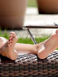 Milf feet, Feet, Amateur feet, Spy, Pool