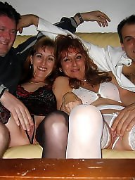 Group, Swingers, Swinger, Brunette, Couple, Sex