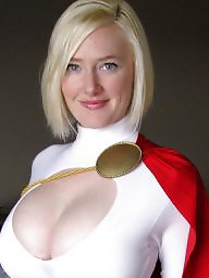 Cosplay girl big power breast