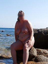 Exhib, Beach milf, Milf beach
