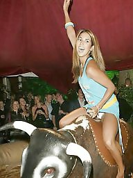 Teen upskirt, Upskirt teen, Riding, Bull