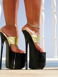Thong, Lady, Heels, High heels, Sandals, Lady b