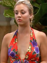 Cleavage, Celebrities, Celebrity, Kaley cuoco, Dressed, Dress