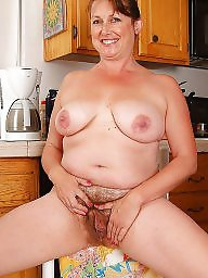 Mature pussy, Mature kitchen, Hairy mature, Kitchen