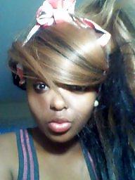 Ebony teen, Black teen, Selfshot