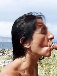 Beach, Public nudity, Public blowjob, Public