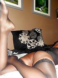 Ebony, Black, Stockings, Lingerie