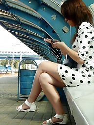 Legs, Train, Leggings, Hidden, Leg, Voyeur