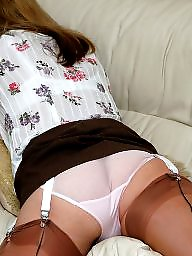 White pantie, White stockings, White stocking, White milf, White matures, Panty milf