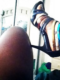 Ebony feet, Ebony stockings, Black feet, Black, Ebony, Ebony legs