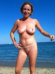 Beach mature, Beach, Nude beach, Mature nude, Nude, Big mature
