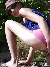 Flashing, Flash, Shorts, Mature amateur