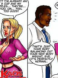 Big boob fumetto, Cartoni animati interraziale