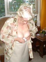 Mature tits, Grannies, Granny tits, Granny, Amateur granny, Cleavage