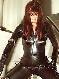 Mature leather, Pvc, Leather, Leather milf