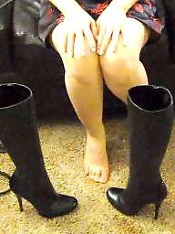 Boots, Milf heels, Milf boots, Heels, Flashing milf, Boot
