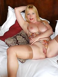 Mature mum in stockings