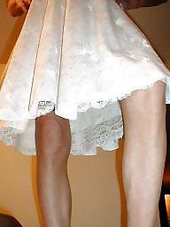 Vintage upskirt, Slips, Vintage femdom, Slip, Upskirt, Dressed