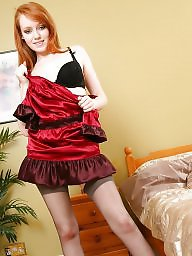 Redheads red, Redheads stockings, Redhead stocking, Redhead stockings, Redhead dress, Redhead black