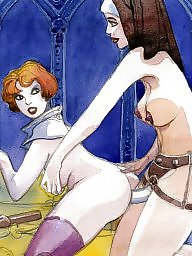 Nuns, Art, Fingering, Cartoon, Paint, X cartoon