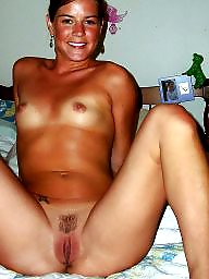 Spread, Hairy, Mom, Legs, Wide, Open