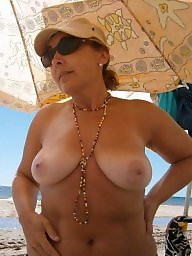 Mature tits, Mature beach, Mature, Tits