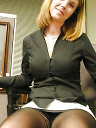Office, Upskirt stockings