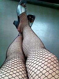 Fishnet, Milf asian, Fishnets