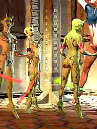Femdom cartoon, Alien, Cartoon