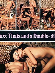 Thai, Vintage asian, Asian, Three, Double dildo