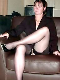 Mature upskirt, See through