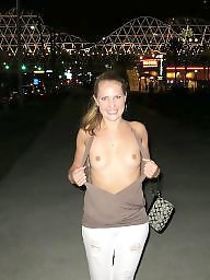 Flashing tits, Public tits, Nude in public