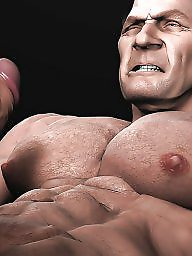 X-man, X- man, Muscleć, Muscled, Muscle cartoon, Manning