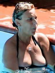 Pool, Mature boobs, Mature pool