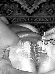 Vintage, Shaving, Wife blowjob