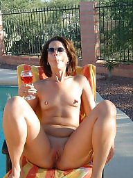 Pool, Public milf, Chair, Mature pool