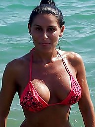 Beach, Beach milf, Romanian, Romanian milf, Milf beach, Big boobs