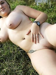Cute, Posing, Bbw outdoor, Pose, Busty blonde, Naked