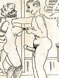 Cartoon, Cartoons, Vintage, Whore, Bdsm cartoon, Housewife