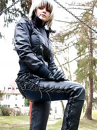 Mature leather, Latex, Pvc, Mature pvc, Leather, Leather milf