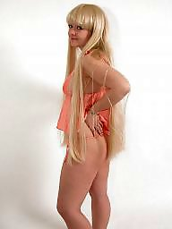 Posing blonde, Poses, Posed, Nightdresses, Blonde posing, Blonde chubby