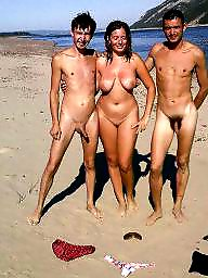 Nude beach, Nude couples, Old couples, Beach couple, Public nude, Old young
