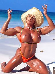 Mature beach, Milf beach, Muscle, Blond mature, Muscles, Beach mature