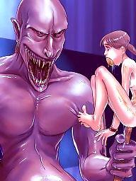 Art, Bdsm cartoon, Monster, Bdsm art