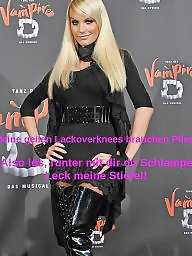 German celebrity, Celebrity femdom, Celebrity captions, German captions, Caption, German caption